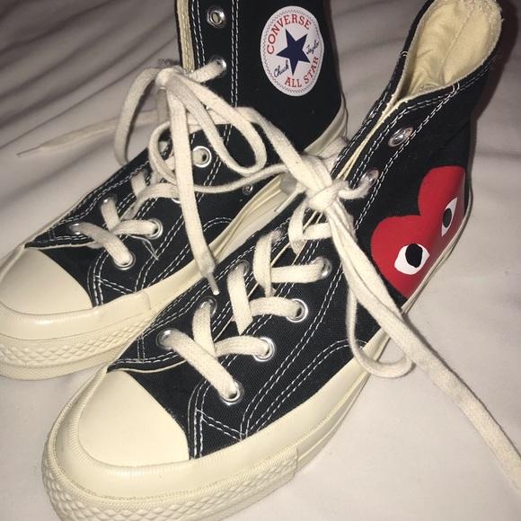 dbda07443378 Comme des Garcons Shoes - Comme des garçons x play black high top converse